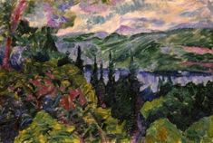 Landscape of Lake Maggiore - Umberto Boccioni - The Athenaeum