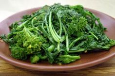 Broccoli rabe (pronounced robb) is a variant of broccoli. Some say it's the healthiest of cruciferous veggies-- anti-oxidants galore. Salud!