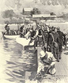 Guanica Landing 1898..........I think I see the Blue Marlin Restaurant In  the background.