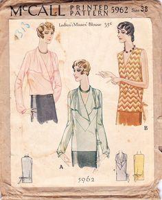 McCall 5962 | 1920s Ladies' & Misses' Blouse