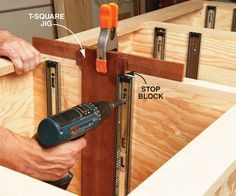 attach the drawer slides to the cabinet a simple way