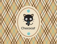 Chococat Brown and Blue Plaid