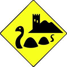 Items similar to Nessie Loch Ness Monster Scotland Scottish Funny Crossing Xing sign T-shirt on Etsy Tartan, Lago Ness, Scottish Culture, Loch Ness Monster, Irish Celtic, My Heritage, British Isles, Funny Signs, Edinburgh