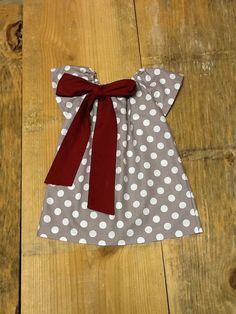 Girls Game Day Dress OR top & bow. Grey White by EverythingSorella, $34.50