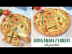 TORTA SALATA 7 VASETTI ALLE ZUCCHINE - RICETTA FACILE | Fatto in casa da Benedetta Bread, Vegetables, Desserts, Recipes, Buffet, Youtube, Food, Album, Fantasy