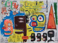 JEAN MICHEL BASQUIAT 1984 signed and dated on back