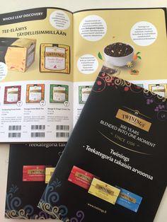 Myynnin tukimateriaalia, Twinings-kuvasto uunista ulos! www.ideaflow.fi