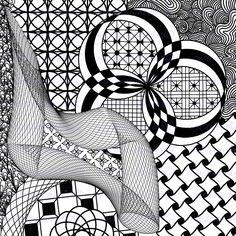 Mandala Adult Coloring Page Yin Yang Bouquet Stencils Pinterest