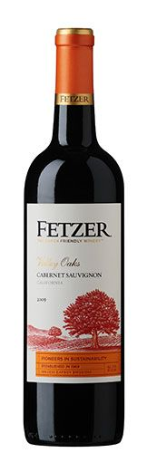 """Fetzer Cabernet Sauvignon: Fetzer Cabernet Sauvignon: According to the winemaker, this Cabernet Sauvignon is complex with various layers of spice and flavor. Tasting delivers a multi-layered wine with texture of ripe blackberry, mocha, toffee and vanilla. Fetzer considers itself an """"earth-friendly winery"""" that believes the quality of wine and the quality of the grape's natural environment go hand in hand. Fetzer has been practicing natural and sustainable grape-growing since 1984."""