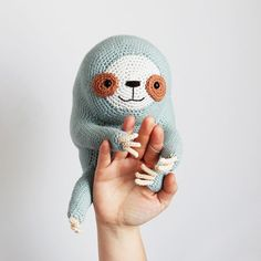 Ollie The Sloth PDF Cuddly Amigurumi Crochet Pattern image 2 Crochet Stitches Patterns, Crochet Patterns Amigurumi, Amigurumi Doll, Crochet Dolls, Crochet Sloth, Crochet Animals, Amazing Animals, Thick Yarn, Arm Knitting
