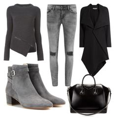 Grey's by vanessagutaj on Polyvore featuring polyvore, fashion, style, Belstaff, Roland Mouret, VILA, Gianvito Rossi and Givenchy