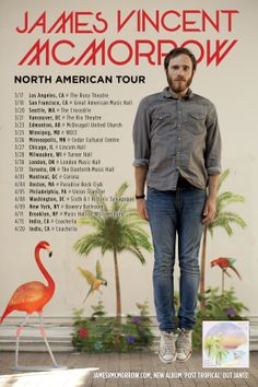 James Vincent McMorrow - North American Tour i'll be thereeeeeee Music Is Life, Live Music, James Vincent, American Tours, Minneapolis, Dates, Tropical, Art, Art Background
