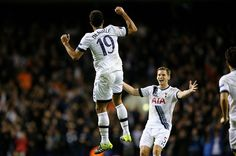 Nov. 5th. 2012: Dembele celebrates after a sublime strike three minutes from time which enables Spurs to beat Anderlecht 2-1 in the Europa League.