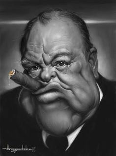 Strogulski Caricatures Winston Churchill