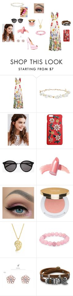"""peace and love"" by huntress-diangelo on Polyvore featuring Joelle, Robert Rose, REGALROSE, Dolce&Gabbana, Yves Saint Laurent, Elizabeth Arden, Isaac Mizrahi, Sonal Bhaskaran, Palm Beach Jewelry and kitsch island"