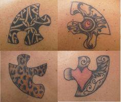 Friendship tattoo...   Cause we fit !!!