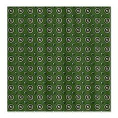 Green Circles Fabric Shower Curtain