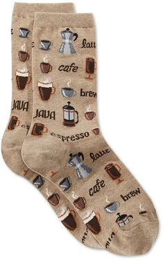 Hot Sox Women's Coffee Crew Socks #ad