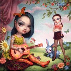 """Just The Girls"" by Mark Ryden  #MarkRyden #painting #art"