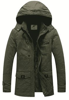online shopping for WenVen Men's Winter Thicken Cotton Parka Jacket Removable Hood from top store. See new offer for WenVen Men's Winter Thicken Cotton Parka Jacket Removable Hood Mens Parka Jacket, Windbreaker Jacket, Bomber Jacket, Best Parka, Herren Winter, Mens Winter, Hooded Winter Coat, Winter Parka, Wraps