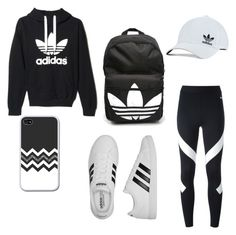 """""""Real Adidas look"""" by layla-4-layla ❤ liked on Polyvore featuring adidas, NIKE and adidas Originals"""