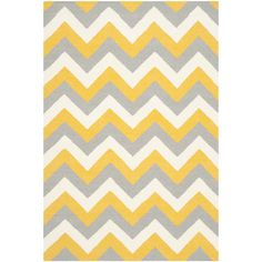 Custom Plush Fuzzy Chevron Area Rug Nursery Shown Yellow And Grey Size 96x44 96x60 Other Colors Available Rugs