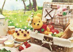 ポストカード クローバーピクニック ディズニー Winnie The Pooh くまのプーさん