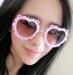 cool lace heart shape hollow sunglass  ,only $3.99 shop at Costwe.com
