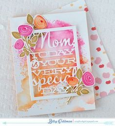 Floral Mom Card by Betsy Veldman for Papertrey Ink (February 2015)