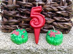 Zombie birthday candle set 6.00 by BabyBearCrayons on Etsy