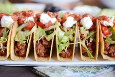 The Best Ground Beef (or Ground Turkey) Tacos Made with a from-scratch taco seasoning that will revolutionize your family taco night, these simple skillet ground beef tacos are absolutely perfect! Healthy Recipes, Mexican Food Recipes, Healthy Snacks, Mexican Entrees, Advocare Recipes, Mexican Cooking, Mexican Dishes, Pastas Recipes, Beef Recipes