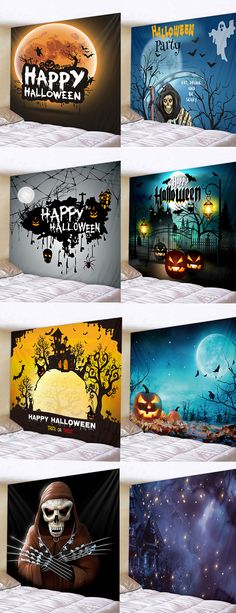 3D Christmas New Year Winter Wall Hanging Tapestry for Home Office Dorm B