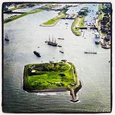 Vaar met de boot op woensdag naar de Stampions stempel op Forteiland IJmuiden: 12.45 heen, 15.15 uur terug (€12,50)