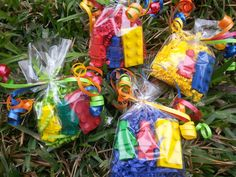 20 bags for $20 lego inspired party favors crayons lego inspired brick and Minifigures men bright colors ninjago chima class gifts by perfectCRAYONS on Etsy https://www.etsy.com/listing/225476905/20-bags-lego-inspired-party-favors