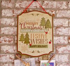 Christmas Card Holder Have a Very Merry by PurplePirateStudios