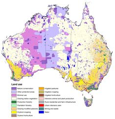 Australian Land Use - Few people. Lots of space. Land Use, Australia Map, Science Facts, Flags Of The World, Urban Planning, South Pacific, Earth Science, World Cultures, Ecology