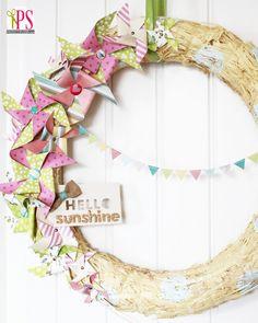 Paper Pinwheel Spring Wreath - So whimsical and fun!