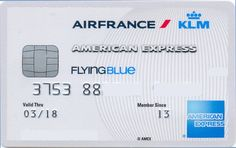 Amex Air France White whith chip (American Express, Netherlands) Col:NL-AE-0009