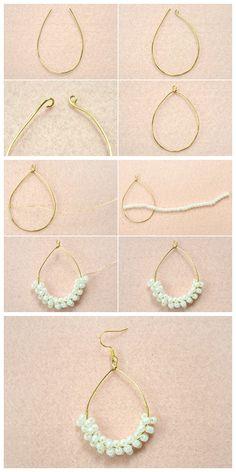 Raw Uncut Emerald Earrings Uncommon Mothers Day Gift Rough Gemstone Jewelry May Birthstone Emerald and Sterling Silver French Earrings Fine Jewelry Ideas Crystal Jewelry, Gemstone Jewelry, Beaded Jewelry, Fine Jewelry, Diy Jewelry With Beads, Handmade Wire Jewelry, Wire Wrapped Jewelry, Beaded Earrings, Hoop Earrings