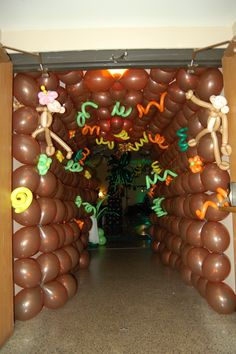 Jungle balloon tunnel - Super Fun idea for your Jungle Safari VBS or children's ministry event. Don't forget to order supplies from NextStep Resources!
