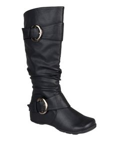 e9fce3d30d6 Journee Collection Black Paris Wide-Calf Boot