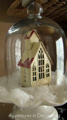 White church in cloche