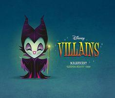 Kawaii Disney Villain - Maleficent by Jerrod Maruyama #art #illustration #maleficent