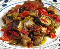ratatouille-my absolute favorite food! aubergine, courgette, onion, paprika, garlic
