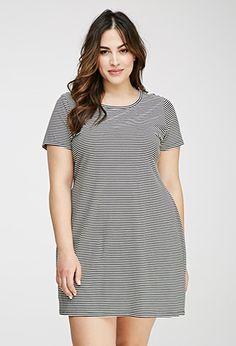 Striped Tee Shirt Dress | FOREVER21 PLUS - 2000096859