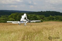 The Drone 3 hoverbike is a 1/3rd scale model of the version ultimately intended for human pilots and passengers