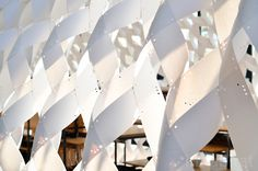 Kengo Kuma unveils cocoon-like paper kitchen pavilion at Milan Design Week's Fuorisalone 2015