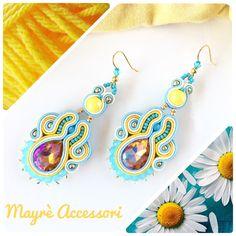 Orecchini soutache handmade, soutache earrings, handmade earrings, soutache jewelry, ooak