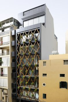Mr. Khoury built this residential building in 2008 on Chehade Street in Beirut. The cast facing facade was fully glazed to get maximum light
