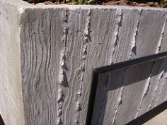 Large Wood Grain Concrete Planter (TK Smith) Tags: modern palmsprings woodgrain modernpatio concreteplanters foisbois